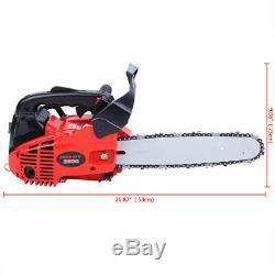10 25.4cc Essence Chainsaw Essence 2500 Gaz Scie Coupe De Bois 2 Stroke 9800rpm