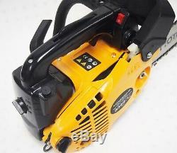 10 25.4cc Essence Chainsaw Essence Gaz Scie Coupe De Bois 2 Stroke Aluminium Manivelle