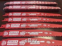 100 Freud Diablo 9 Recip Blades Bois Ds0912bw Fits Dewalt 20v Sawzalls