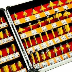 100pc 1/4 Shank Tungsten Routeur De Carbure Bit Set De Fraisage De Bois Cutter Rotary Outil