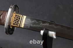 103cm Argile Tempérée 1095 Acier Katana Japonais Samurai Sharp Sword Cut Bamboo