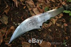 1095 Épée À La Main En Acier Au Carbone Lame Roi Dao Épée Peut Couper L'arbre