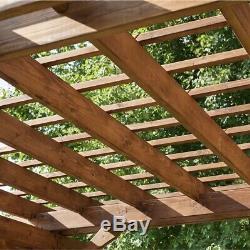 12' X 10' Cedar Pergola Backyard Patio Bois Prédécoupé Préverni Ez Assemblée
