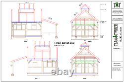 14'x16' Maple Sugar House Avec 8'x10' Lean- To Cnc Cadre En Bois Précuit