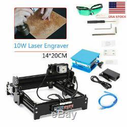 1420 10w Cnc Laser Usb Marquage Graveuse Bureau Bricolage Métal Bois Machine De Coupe