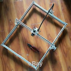 15w Cnc Usb Laser Machine De Gravure En Métal De Gravure De Coupe Du Bois 50x65cm Kit Diy