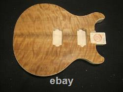 #16-613 Les Paul Double Cut Type Body, Us Made, Unfinished, Highly Quilted