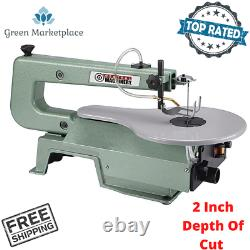 16 Vn. Bench Table Mounting Scroll Saw Wood Cutter Variable Speed Cutting Tool