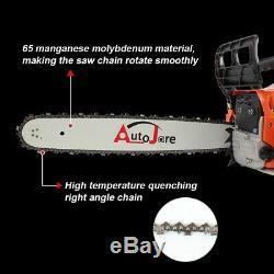 20 52cc Gaz Chainsaw Bois Outil De Coupe 2 Temps Puissance Enginee Connexion Easystart