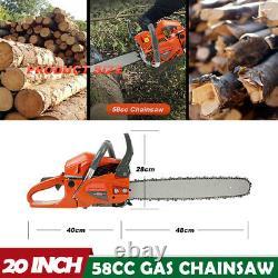 20 58cc Gas Chainsaw 2 Cycle Aluminium Crankcase Chain Saw Wood Cutting Machine