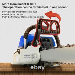 20'' Bar 58cc Gasoline Chainsaw 3hp Gas Powered Wood Cutting Chain Saw