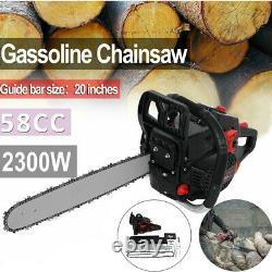 20'' Barre 58cc Chainière D'essence 4.0hp Chainière De Coupe De Bois Alimentée Au Gaz
