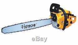 20 Essence Chainsaw 52cc Gaz De Coupe En Bois Scie À Chaîne En Aluminium Nouveau Crankcase