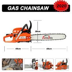 20 Gas Bar Puissant Chainsaw 2 Chaîne Stroke Essence Godendard 58cc Coupe De Bois
