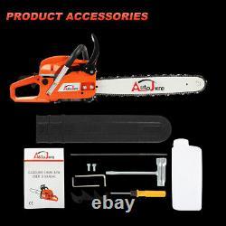 20 Tronçonneuse À Gaz 2-cycle Wood Cutting Hand Tool 52cc 2-stroke Gasoline Chain Saw