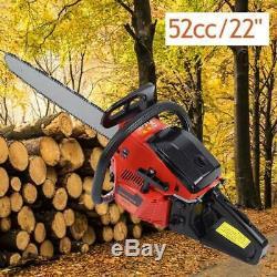 2000w 52cc 22 Bar Essence Scie À Chaîne 8500rpm CDI Jardin Chainsaw Coupe De Bois