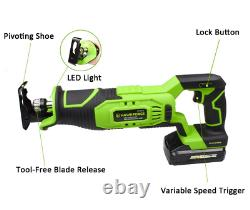 20v Max Lithium Ion Compact Cording Saw Cutting Tool + 6 Lames