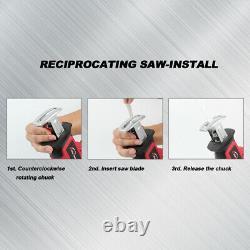 20v Sans Fil Réciproque Scie Jigsaw Lames Multi-coupe Avec Rechargeur Battery