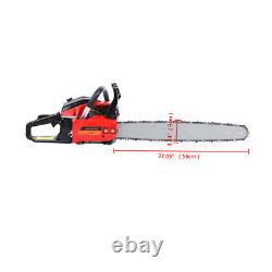 22 Bar Gas Powered Chainsaw Chain Saw 52cc Wood Cutting With Aluminum Crankcase