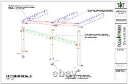 22' X 46' Bois Frame Cabin Cnc Cut Frame Package
