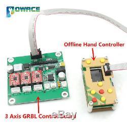 3 Axes Cnc 3018 Mini-routeur Pvc Pcb Bois De Fraisage Machine + Hors Ligne De Commande