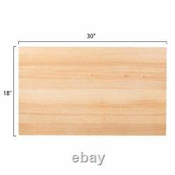 30 X 18 X 1 3/4 Po. Planche À Découper Planche À Découper Bois Boucher Durable