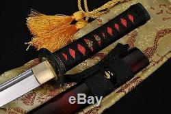 31 Épée De Samourai Japonais Fait Main Wakizashi Acier Laminé Peut Couper Arbre