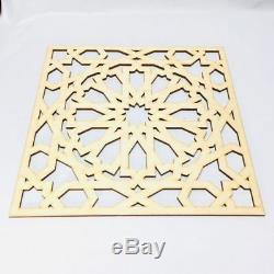 4 Pcs Marocaine Panneaux Décoratifs, Plaque En Bois, Trim, Perles, Bois Coupé Au Laser