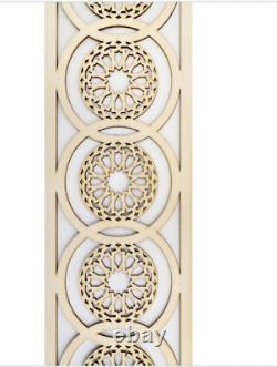 4 Pcs Panneaux Décoratifs Marocains 65 CM Plaque En Bois, Trim, Perle, Bois Coupé Au Laser