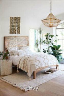 4 Pièces Découpées Au Laser Des Panneaux En Bois Décoration Marocaine Design Wall Bois 65 CM Size10