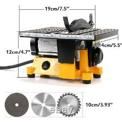 4 Table Portable Saw Diy Wood Cutting Machine Woodworking Grinder Polisher Etats-unis