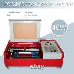 40w 12x 8 Co2 Gravure Laser Coupe Machine Métal Graveur Cutter Bois Bricolage