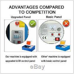 40w Haute Précision Co2 Laser Engraver Machine De Découpage De Gravure Avec Port Usb Bleu