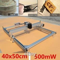 40x50cm Mini Machine De Gravure Au Laser 500mw Marquant L'imprimante En Bois De Découpe De Logo De Bricolage