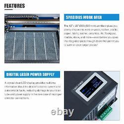 50w 20x12 Laser Graveur Cutter Cutter Machine De Marquage De Gravure Ruida