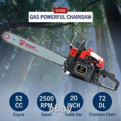52cc 20 Barre De Gaz Chaînes De Scie Chaîne Sciage Bois Coupe En Aluminium Crane