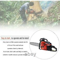 52cc 22 Barre Chain Saw À Gaz 52cc 2 Cycle Chain Saw Coupe Bois CDI