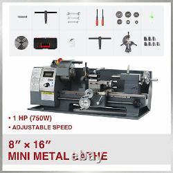 8x16 Mini Machine De Découpe De Tour De Métal Pour Bois Et Métal 750w 2250rpm
