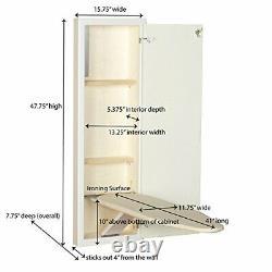 Armoire Stowaway Construite En Planche À Repasser Couper En Mur Pour Installer La Finition Blanche