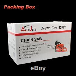 Autojare Gaz Sans Fil Powered Chainsaw 20 Pouces Coupe En Bois Aluminium Crankcase