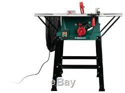 Banc Parkside Table Saw 2000w 254mm Ptk2000 E3 Faisceau Laser Pour La Coupe De Ligne