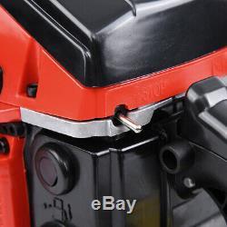 Bar Gas Powered Chaîne Tronçonneuse Scie 52cc 22 Bois De Coupe En Aluminium Crankcase