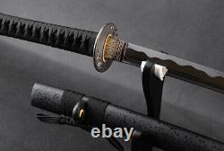Battle Ready 1095 Acier Japonais Samurai Katana Sharp Pratique Sword Cut Bambou