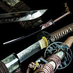Battle Ready Clay Tempered T10 Acier Épée Japonaise Katana Lame De Coupe Sharp