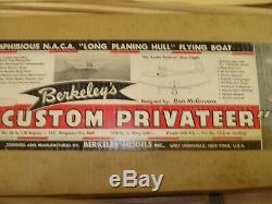 Berkeley's Custom Privateer 114 R / C Sea Plane - Kit Court De Découpe Au Laser - Vintage