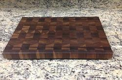 Black Butcher Block Coupe Board Nouveau Grain 14 X 18 Pattern De Sap