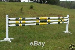 Cheval Saute 3-10ft 3 / Stripe Cut Rails En Bois 2 Couleurs Tack Horse