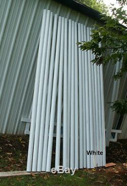 Cheval Sauts 12ft Bundle / 6 Blanc Cut Bois Rails Cheval Tack