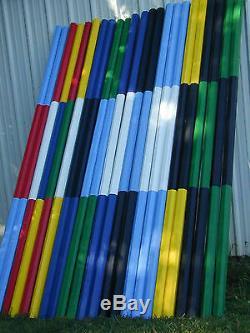 Cheval Sauts 12ft Bundle / 6 Ends Couleur Cut Rails En Bois Choix De Couleurs