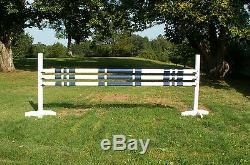 Cheval Sauts 3-10ft 3 / Stripe Cut Rails Bois 1 Couleur Du Cheval Tack
